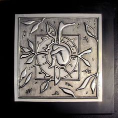 Growth Pewter on mild steel by Martie Bitzer