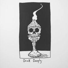 "12.2k Likes, 25 Comments - Matt Bailey (@baileyillustration) on Instagram: ""Drink Deeply."""