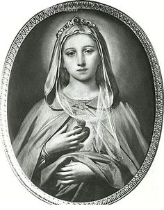 """theraccolta: """" The Immaculate Heart of Mary by Nicolo Barabino """" Blessed Mother Mary, Blessed Virgin Mary, Divine Mother, Religious Images, Religious Art, Jesus E Maria, Images Of Mary, Mother Art, Queen Of Heaven"""