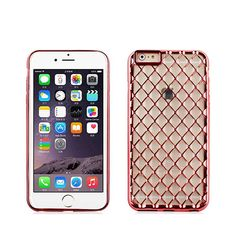 For Iphone 6/6S Plating+Laser 3D Crystal Pattern TPU-Rose gold