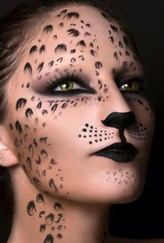 cat, feline, makeup - editorial, avant garde, chic, fashion, costume #halloween