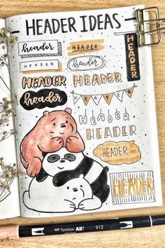 The ultimate collection of bullet journal header and title ideas for inspiration! Wether you're changing up your entire theme or just one spread, these awesome bullet journal header and title ideas will help you decorate with ease! Bullet Journal School, Bullet Journal Headers, Bullet Journal Lettering Ideas, Bullet Journal Banner, Journal Fonts, Bullet Journal Notebook, Bullet Journal Ideas Pages, Bullet Journal Inspiration, Bullet Journals