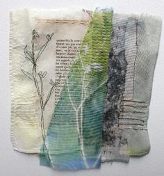 Cas Holmes - Zeeland Flora I loved stitching on paper! Collages, Art Textile, Textile Artists, Mixed Media Collage, Collage Art, Cas Holmes, A Level Textiles, Tea Bag Art, Creative Textiles