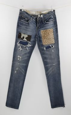 2e1325d00af7  kabanplus reworked with leather patches jeans Patched Jeans