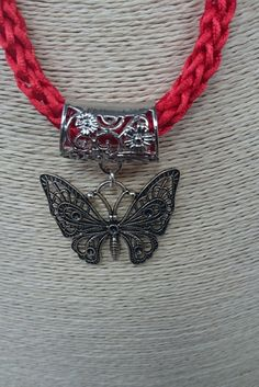 Hey, I found this really awesome Etsy listing at https://www.etsy.com/uk/listing/482972205/cherry-red-necklace-silver-butterfly
