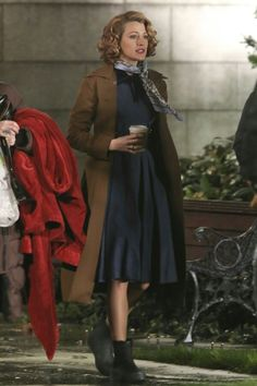 Blake Lively on the set of The Age of Adaline
