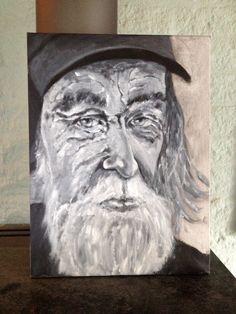 Part of old men in grey (acrylics)