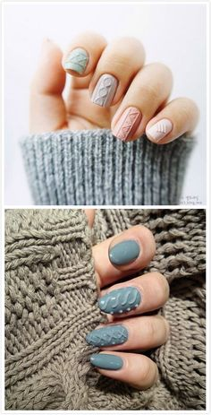 Latest hit on Instagram that will complete your look for this season is cable knit sweater nail art. Here are some steps on how to make perfect holiday sweater nails