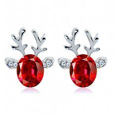Sandistore Crystal Gemstone Earrings luxury three dimensional... (6,38 RUB) ❤ liked on Polyvore featuring jewelry, earrings, earring jewelry, red earrings, gemstone jewellery, gem jewelry and crystal stone jewelry