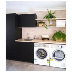 The Little-Known Secrets to Laundry Room Design Ideas There are lots of design ideas in the post basement laundry room which you are able to find, you will see ideas in the gallery. Therefore, if you're searching for design suggestions… Continue Reading → Basement Laundry, Laundry Room Organization, Laundry In Bathroom, Laundry Cabinets, Diy Cabinets, Laundry Shelves, Black Cabinets, Small Shelves, Storage Shelves