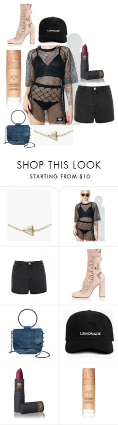 """""""."""" by laura-lorena-forever ❤ liked on Polyvore featuring Hortense, Cheap Monday, Ally Fashion, Chinese Laundry, Nasty Gal, Lipstick Queen and Laura Geller"""