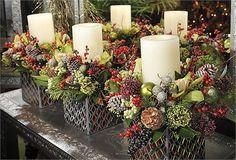 Christmas wedding flower arrangement - The Specialist Event Company Ltd