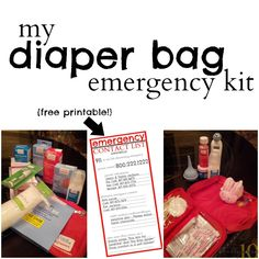 My Diaper Bag Emergency Kit with Free Printable Emergency Contact List - Great for Babies and Toddlers! #WellatWalgreens #CollectiveBias #shop