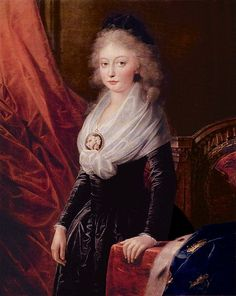 A portrait of Marie Thérèse Charlotte, daughter of Louis XVI and Marie Antoinette, by Heinrich Füger. Done sometime after 1795.