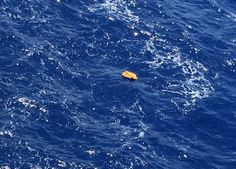 Wreckage of MS804? This image posted online purportedly shows a piece of debris fromthe doomed EgyptAir plane that crashed into the Mediterranean with 66 people on board, although MailOnline has been unable to independently the pictures