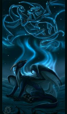 Akorat by ~Kyuubreon on deviantART Nice colors and a different kind of Dragon pic. A Contelation Dragon, live it Fantasy World, Fantasy Art, Cool Dragons, Dragon's Lair, Dragon Artwork, Dragon Pictures, Wings Of Fire, Anime Wolf, Mythological Creatures