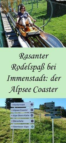 Die macht der ganzen Familie Spaß: die Sommerrodelbahn Alpsee Coaster bei Immenstadt