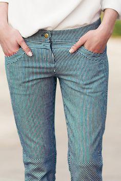 Railroad stripe pants