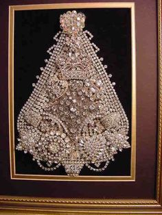 Vintage - White Jewelry Christmas Tree