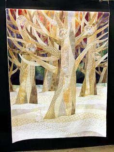 Trees in neutral tones.  2009 Tokyo International Quilt Festival. Photo by Robots-Dreams, via Flickr