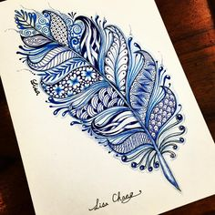 #feathers #zentangle