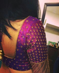 Stylish saree blouse designs prominent the looks of the wearer. For a classy and sophisticated look, try these blouse designs for wedding season. Wedding Saree Blouse Designs, Pattu Saree Blouse Designs, Designer Blouse Patterns, Fancy Blouse Designs, Blouse Neck Designs, Wedding Blouses, Salwar Designs, Dress Designs, Saree Wedding
