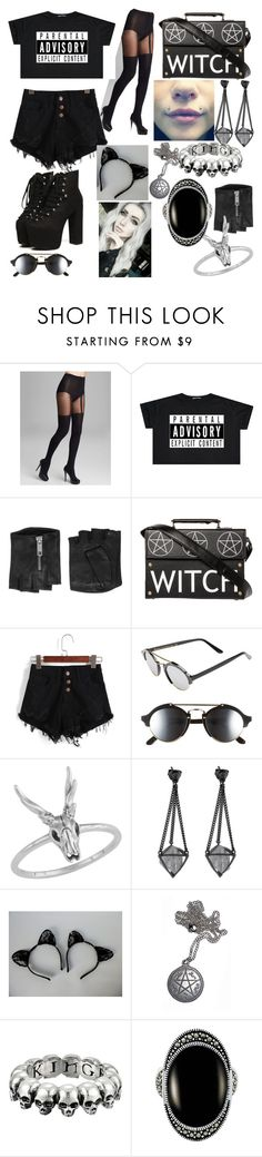 """Unbenannt #12"" by mayday100parade ❤ liked on Polyvore featuring Pretty Polly, Karl Lagerfeld, Illesteva and King Baby Studio"