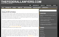 http://thefederallawyers.com/2014/05/dealing-with-irs-tax-problems.html - Tax Attorney Nick Nemeth Nick Nemeth is one of the most respected lawyer with expertise in tax law. He and his legal team is committed to provide tax and legal services for individuals and business organizations