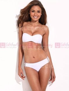 4da969295c918 RELLECIGA super-stretchy straps at the back make this little. Bandeau  BikiniBikini SwimwearBridal ...