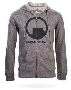 "ThinkGeek :: Half Life 2 - Black Mesa Hoodie ""even black mesa. That was a joke, haha, fat chance."" I really want to play Portal please"