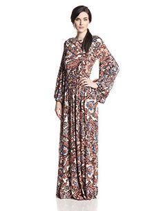 Rachel Pally Women's Clairis Long Sleeve Maxi Dress, Lotus Paisley, Medium - http://womencontemporarydress.ellprint.com/rachel-pally-womens-clairis-long-sleeve-maxi-dress-lotus-paisley-medium/