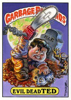 Evil Dead Garbage Pail Kids by Luis Diaz Art, via Flickr