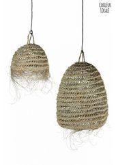 Natural Hanging lamp with fringes  Hanging Lamps  Light