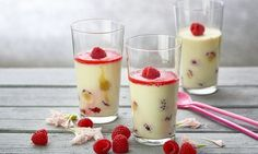 Himbeer-Panna-cotta ohne Gelatine (mit Agar Agar) - Rezepte - Schweizer Milch Tiramisu Dessert, Panna Cotta, Agar Agar, Make Ahead Appetizers, Gelatine, No Bake Desserts, Food And Drink, Cooking Recipes, Baking