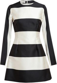 Stella McCartney - Stripped Silkblend Dress