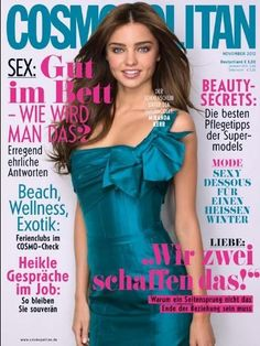 Miranda Kerr for Cosmopolitan Germany November 2012