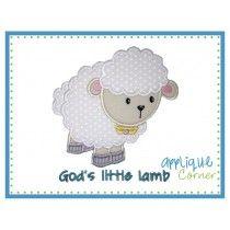 8b3f3022d Applique Corner Applique Design God s Little Lamb Applique Design