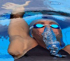 Swimmers have the best muscles. Yes we do. I love how the water is coming out of they're nose!