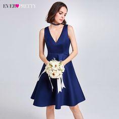 c1d7837823ac 2017 nogensinde smukke mode kvinder elegante brudepige kjoler v-hals høj  talje ruffles kjole kjole