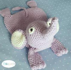 Schmusetuch Elefant Ottilia, Häkelanleitung, für Babys und Kleinkinder, schnell…