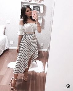 Shop this pic from Teen Fashion Outfits, Trendy Outfits, Girl Fashion, Cool Outfits, Summer Outfits, Womens Fashion, Cute Skirt Outfits, Cute Skirts, Look Star