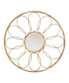 Look at this #zulilyfind! Spiral Metal Wall Mirror #zulilyfinds
