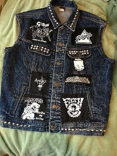 Crust Punk Vest Hand Made Patched And Studded | What's it worth