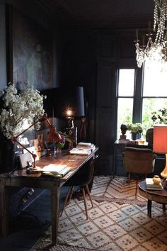 A Dark Office - Our Favorite Dark Living Spaces - Photos
