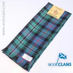 Pure wool scarf in Rose Ancient tartan-  available from ScotClans
