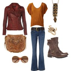 Western Leather, created by donna-hargis on Polyvore
