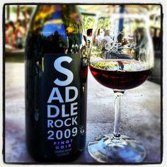 Glass of Saddlerock Pinot Noir by thejorell at Malibu Wines