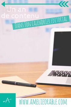 Le calendrier editorial - un an de contenu