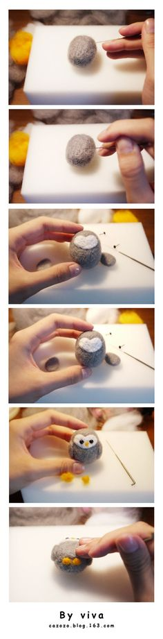 A pinner writes Wool felt, poke fun, my original tutorial