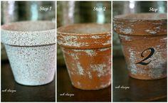 www.eabdesigns.typepad.com - eab designs tutorial- terra cotta pots with krylon stone textured spray paint